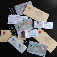 Tickets and invitation cards